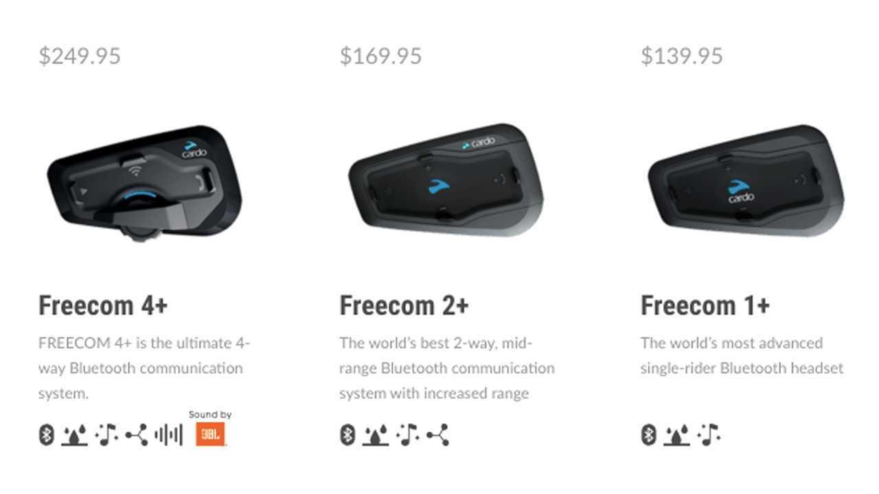Cardo Freecom+ Headset