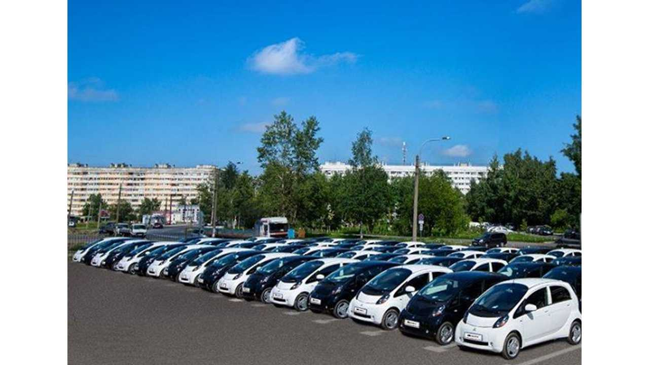 70 Mitsubishi i-MiEV Electric Vehicles Delivered to Russian Presidential Administration for G20 Leaders