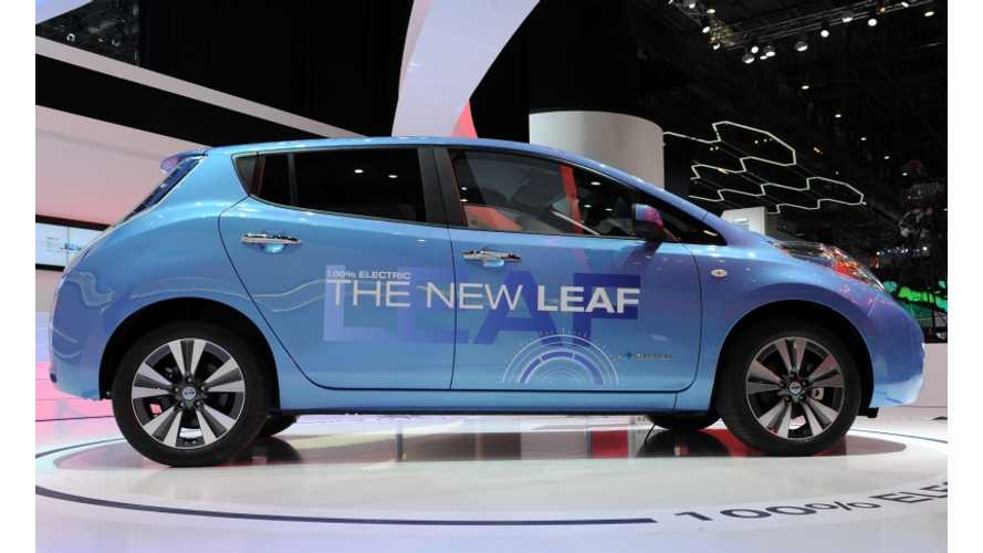 Updated Nissan LEAF Hits the Stage in Geneva