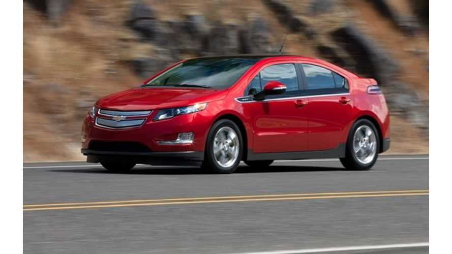 Chevy Volt Maintains Top Plug-In Sales Spot in Canada for 13th Consecutive Month