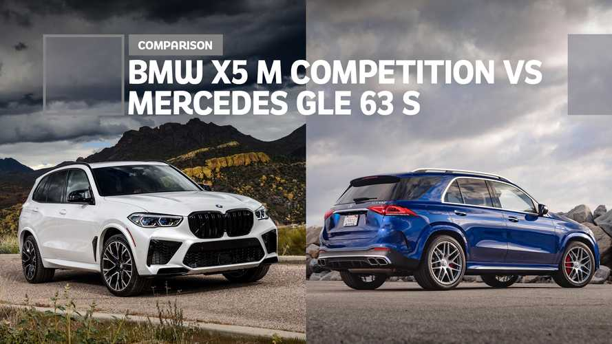 Mercedes-AMG GLE 63 S vs. BMW X5 M Competition Comparison: Big Box Blitzkrieg