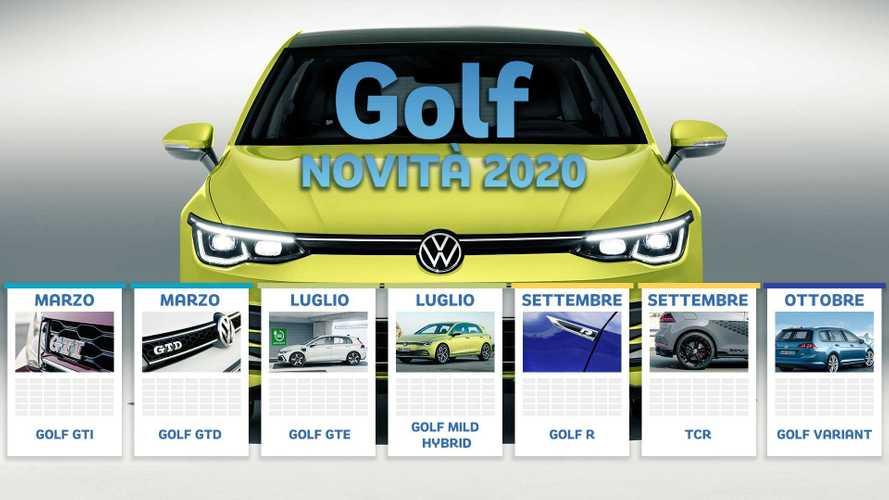Nuova Volkswagen Golf 8, tutte le versioni in arrivo nel 2020