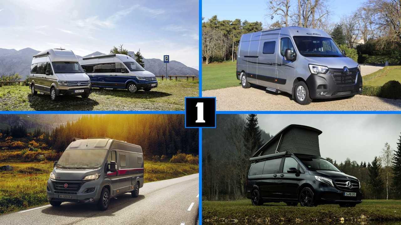 8 furgonetas equipadas para las vacaciones