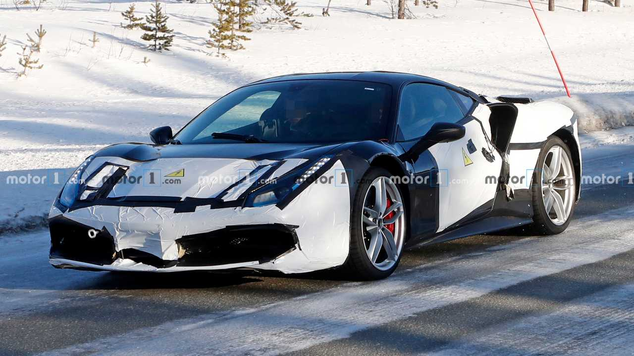 Ferrari 488 Pista Hybrid Spy Photos