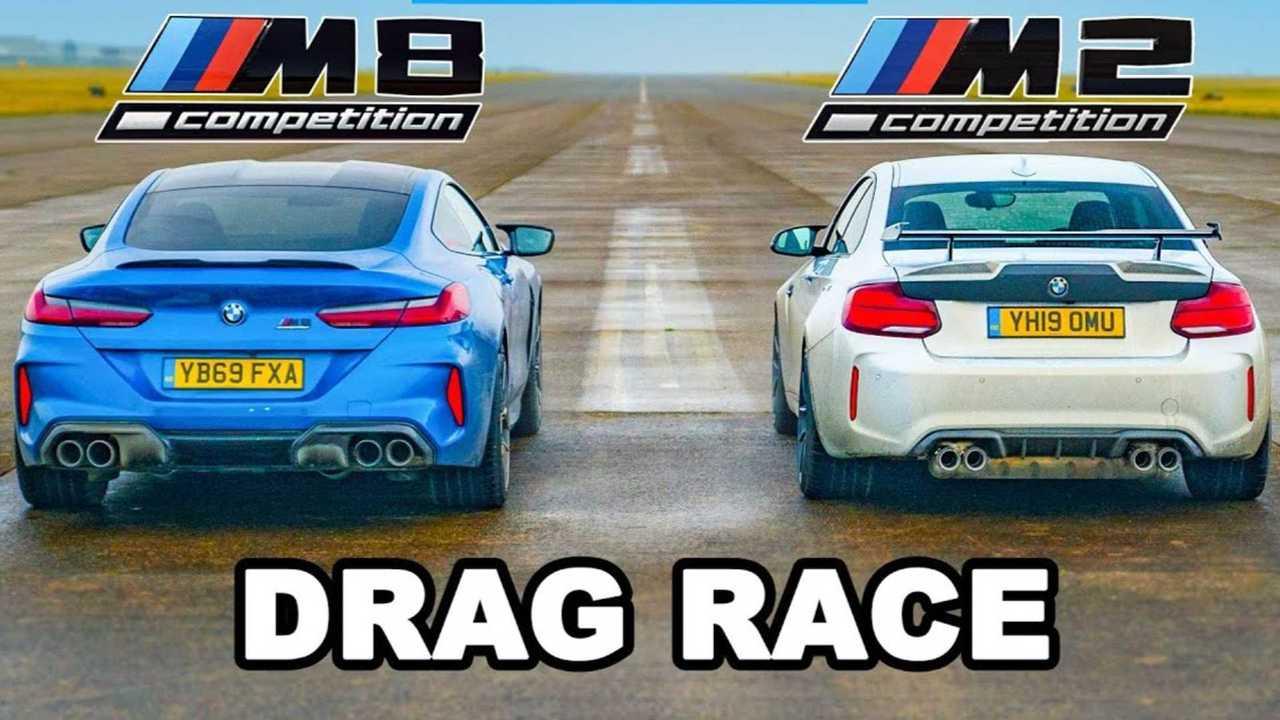 Baby M Drag compite con Big Daddy M mientras BMW M2 lucha contra el M8 1