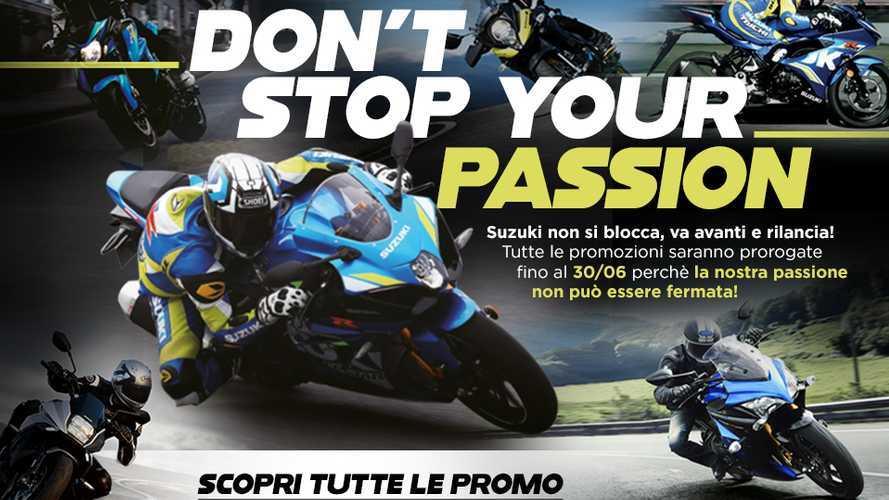 """Suzuki """"Don't Stop Your Passion"""": promozioni e sconti fino al 30 giugno"""