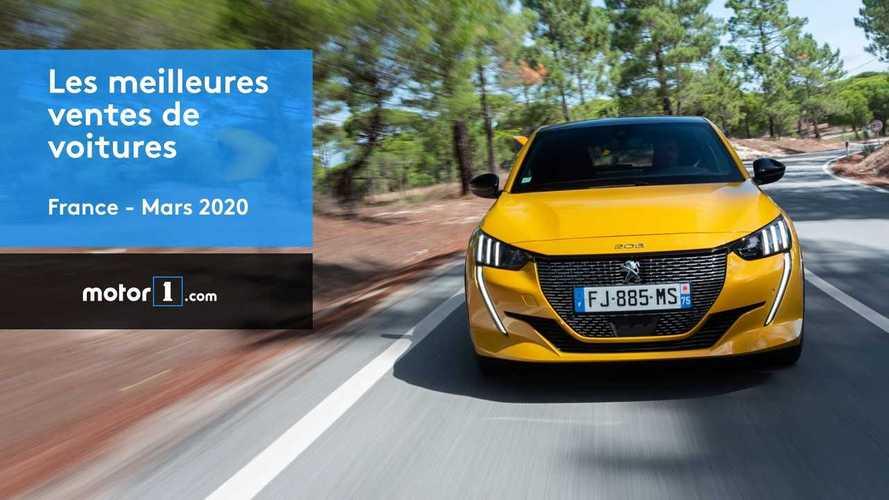 VIDÉO - Les 10 voitures les plus vendues en France en mars