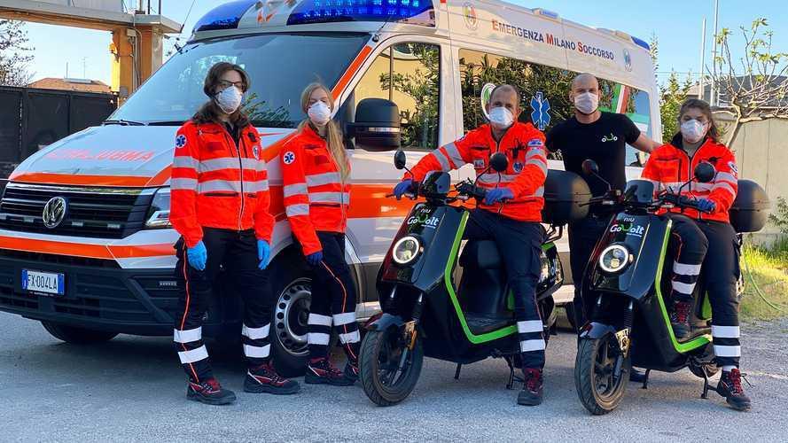 Coronavirus: a Milano scooter gratis per medici e personale sanitario