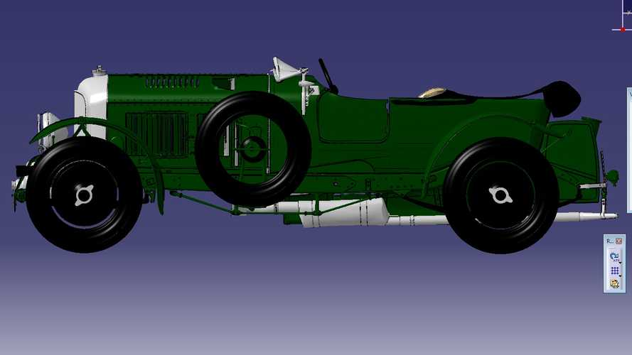 Bentley completes digital rendering of iconic Blower