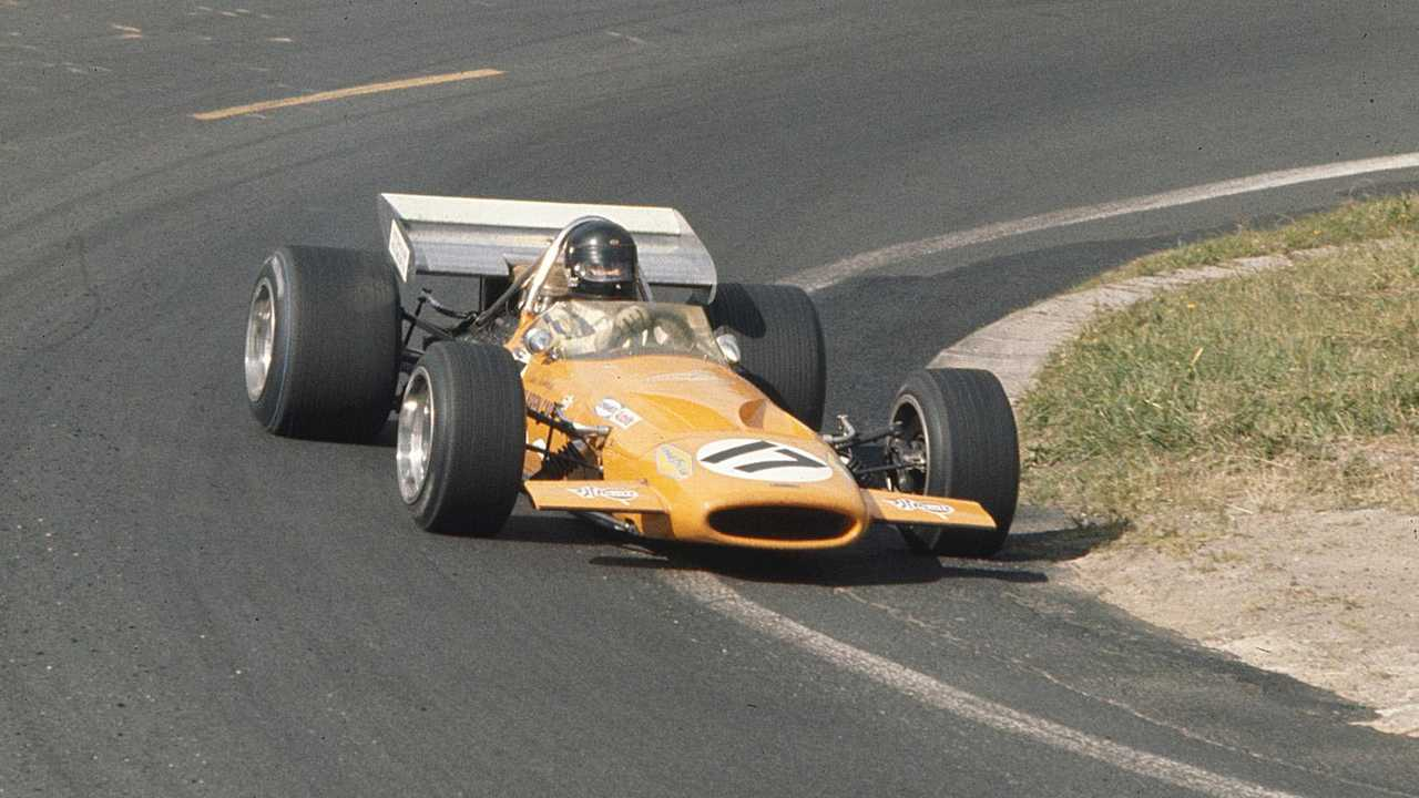 Last F1 car driven by Dan Gurney to be shown at Race Retro
