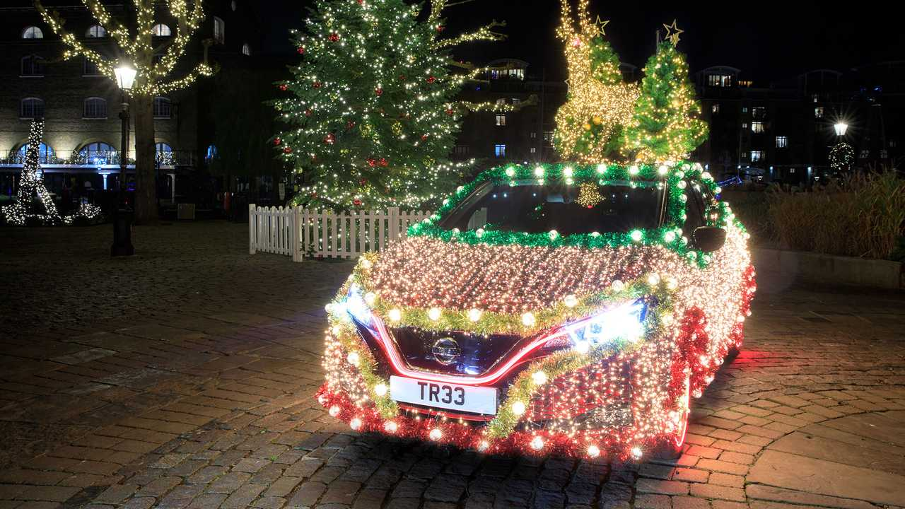 Nissan Leaf - Driving ohm for Christmas