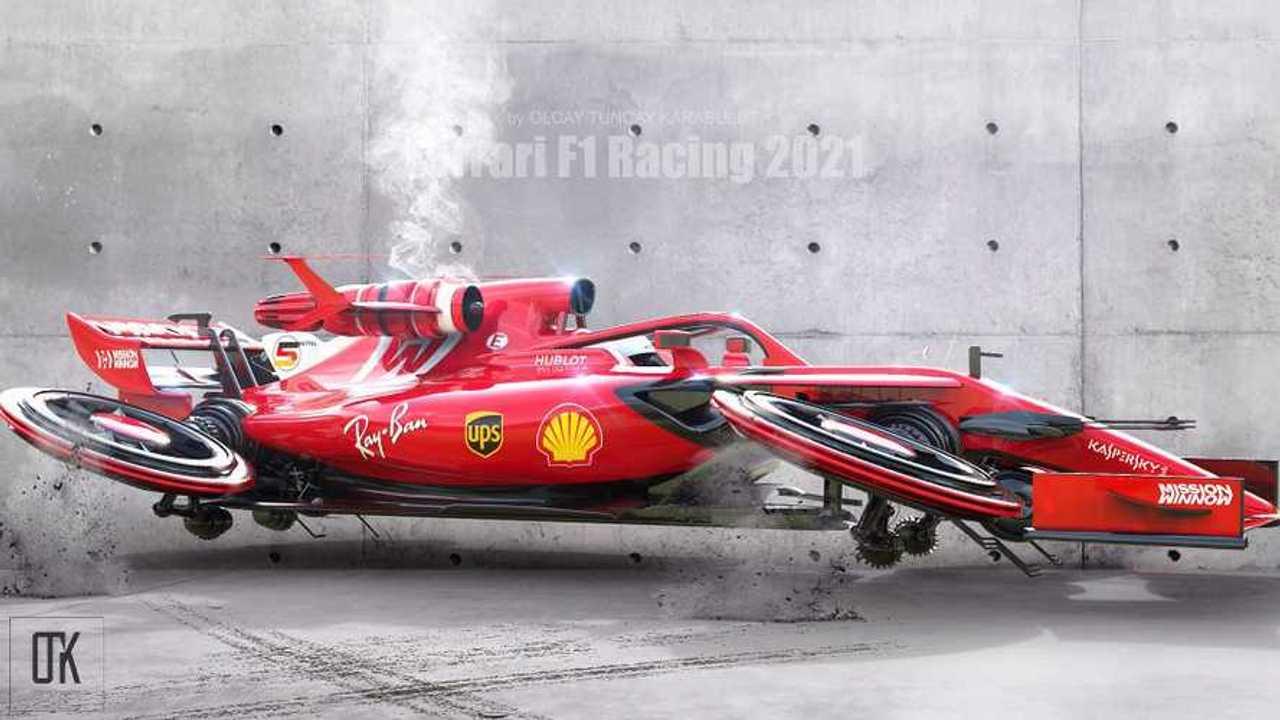 Jet Motorlu Fütüristik Ferrari F1 Konsepti