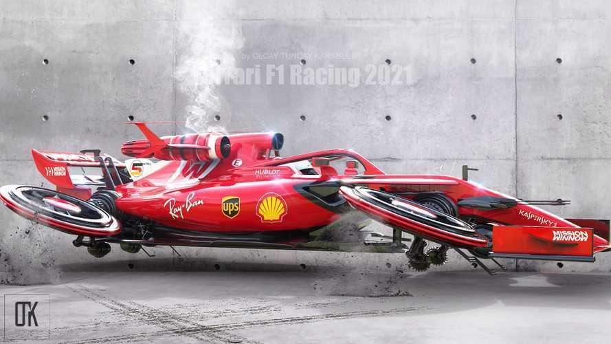 Jet motorlu fütüristik Ferrari F1 konseptini görün