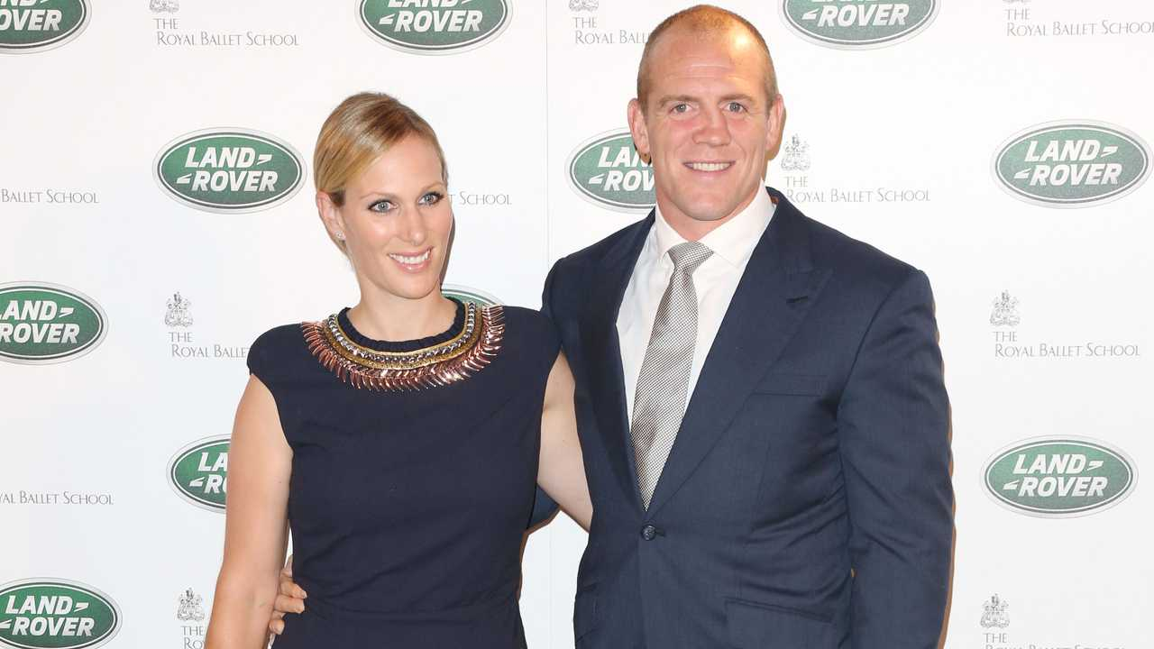 Zara Phillips and Mike Tindall at Range Rover unveiling London 2012