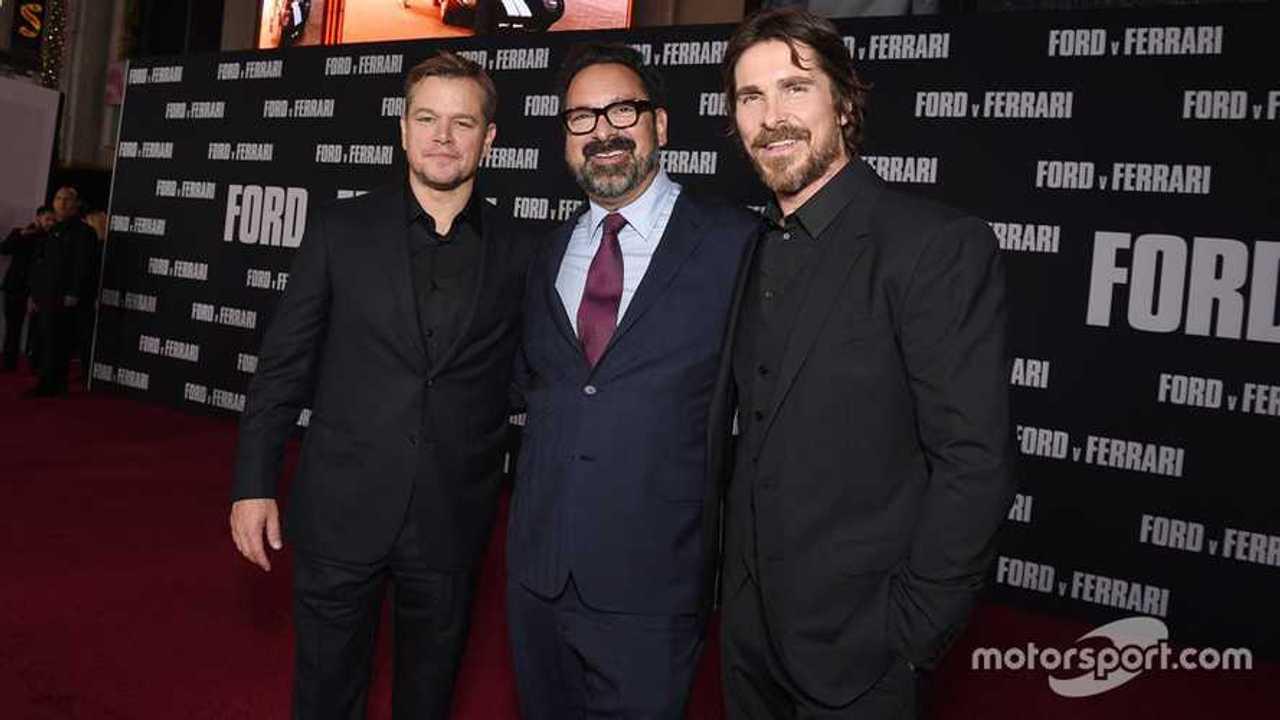 James Mangold Director of Ford V Ferrari with Matt Damon and Christian Bale at movie premier in LA