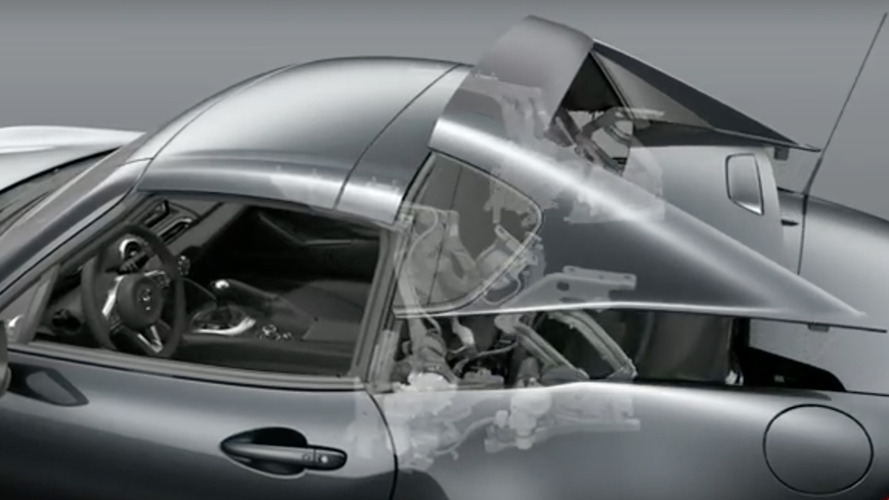 Watch how Mazda Miata's hardtop cleverly folds away