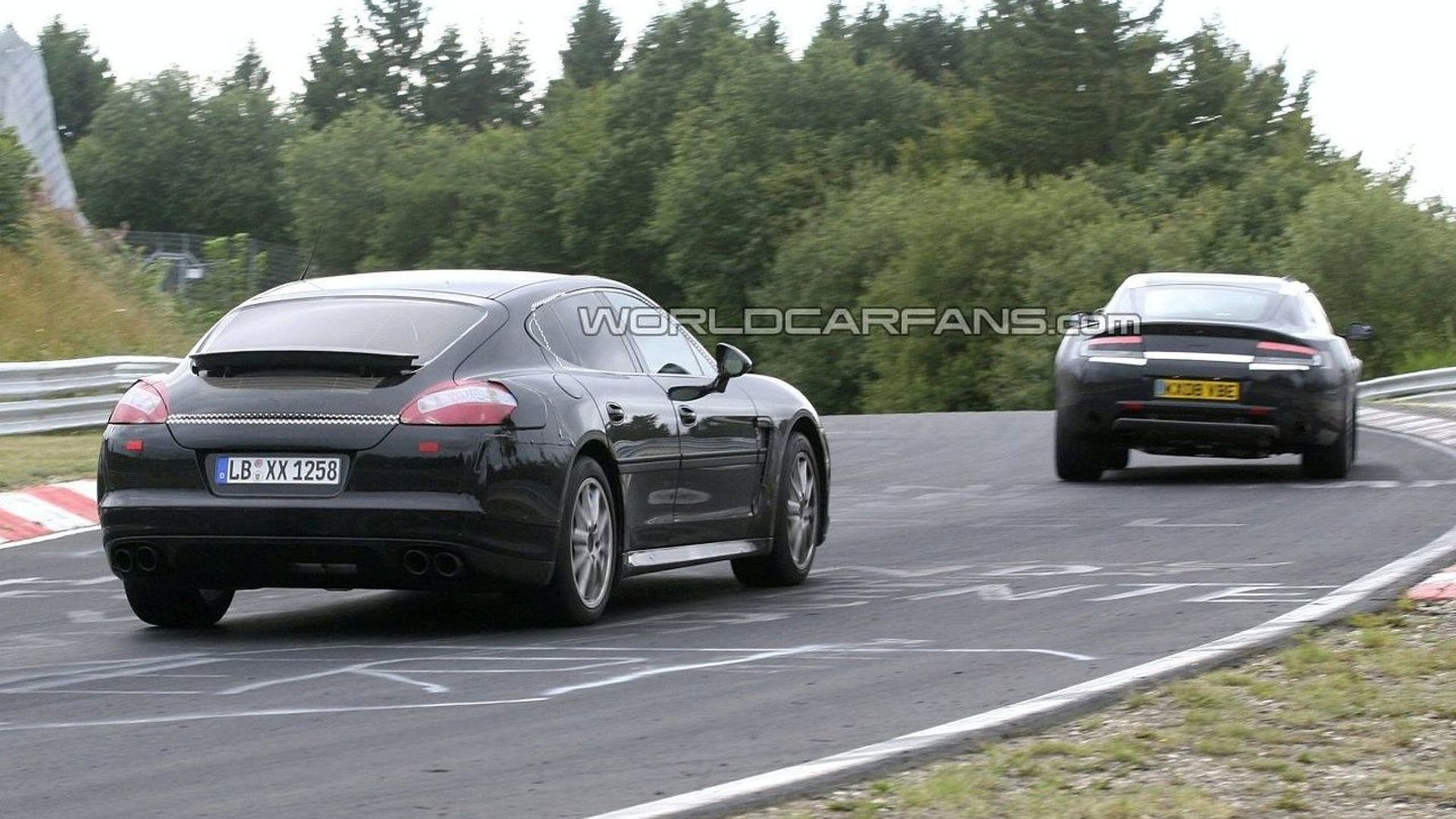 Aston Martin Rapide Vs Porsche Panamera 46314