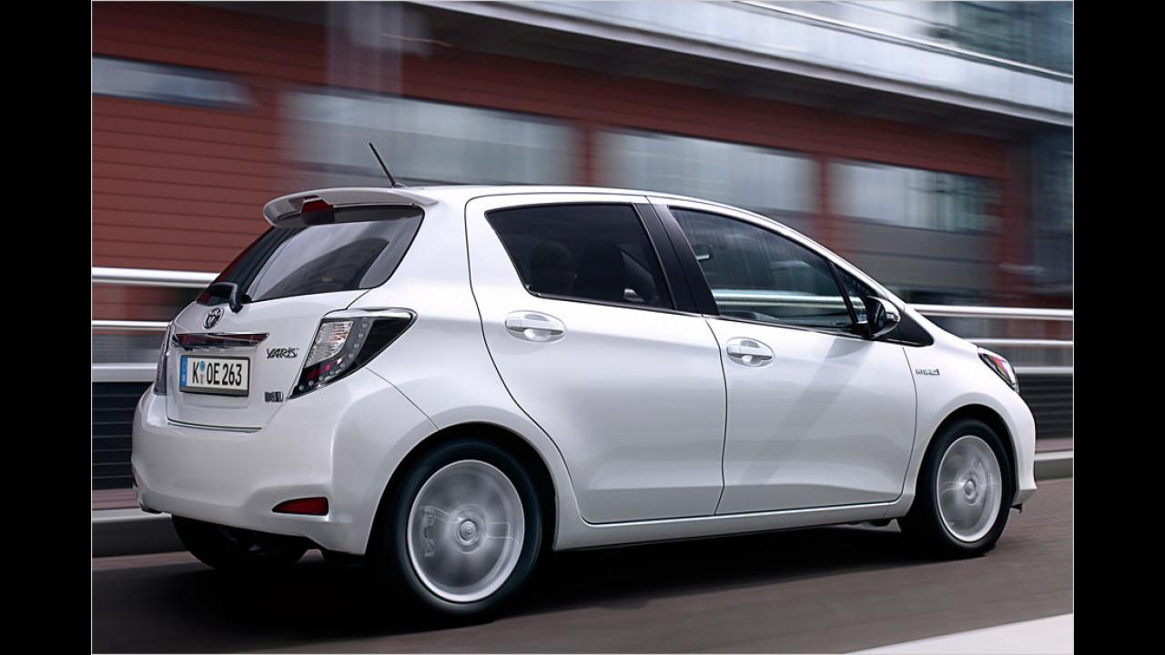 Die Klimabesten, geteilter Platz 1: Toyota Yaris Hybrid, 79 Gramm CO2-Ausstoß je Kilometer