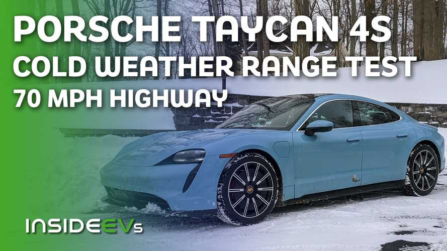 Porsche Taycan 4S Cold Weather 70 MPH Range Test
