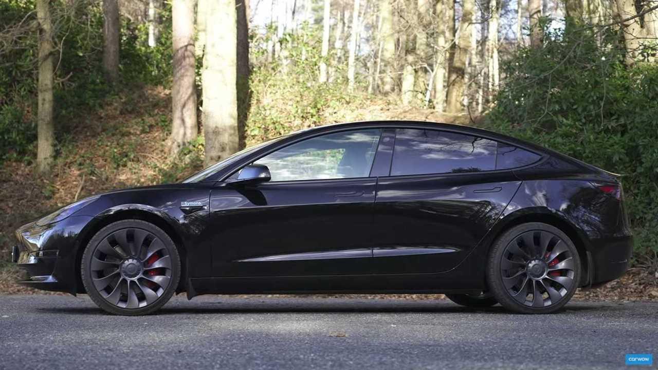 2021 tesla model 3 performance black