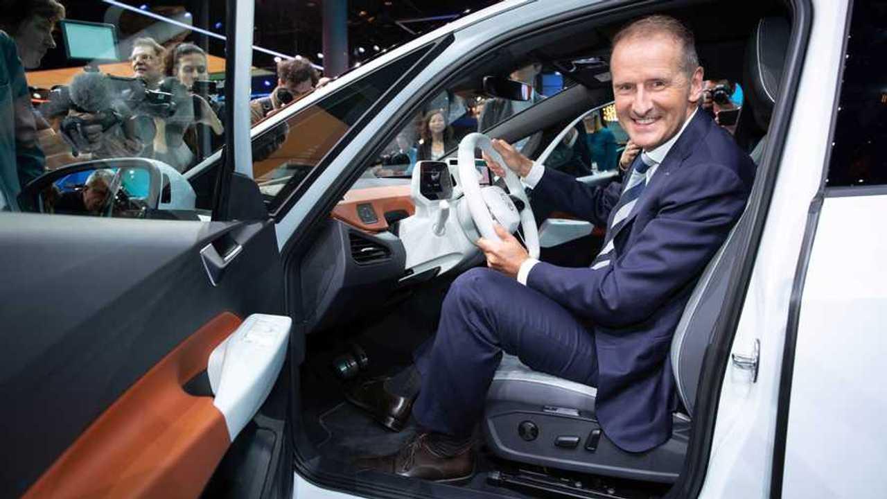 Herbert Diess At The Wheel Of the VW ID.3