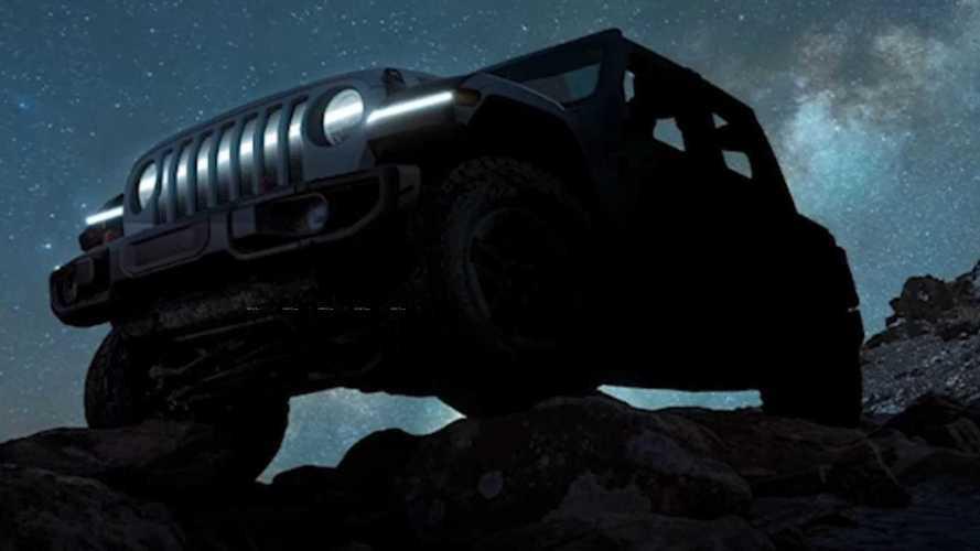 Jeep Wrangler elettrica, i teaser