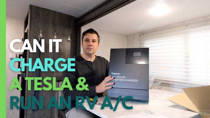 Charging A Tesla Model X With An All-In-One Solar Inverter Charger