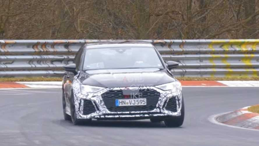 Audi RS3 Sportback spy video shows our new favourite hot hatch