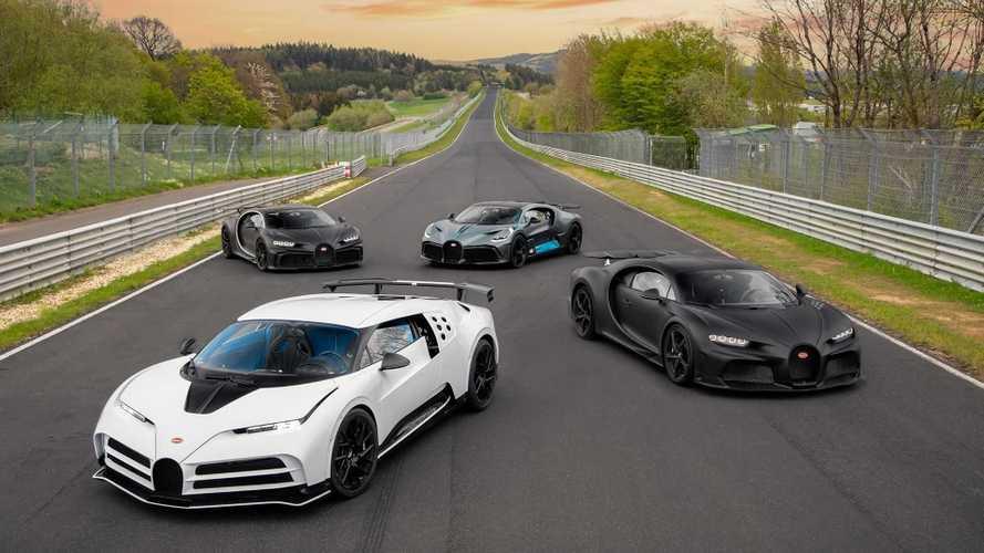 Empat Bugatti Berfoto di Nurburgring, Harganya Setara 100 Innova