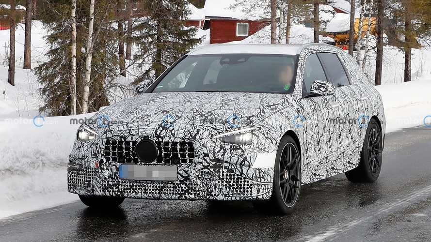 Mercedes-AMG C63 Estate Spy Photos