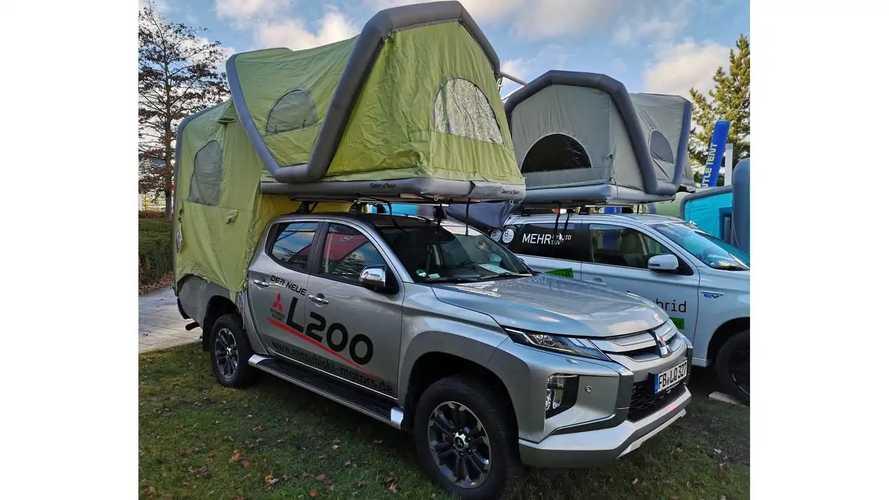 Mitsubishi camper tienda hinchable