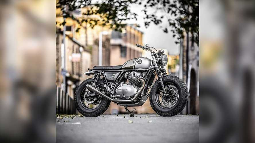 Check Out This Fat-Tired Custom Royal Enfield Interceptor