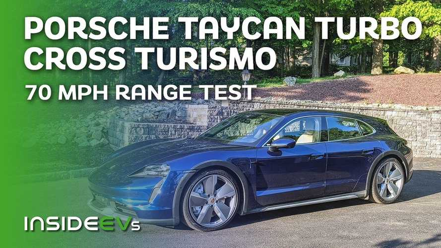 Porsche Taycan Turbo Cross Turismo Nets 246 Miles Driving At A Constant 70-MPH