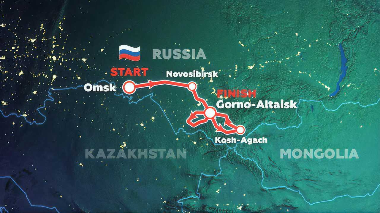 2021 Silk Way Rally Rerouted Map