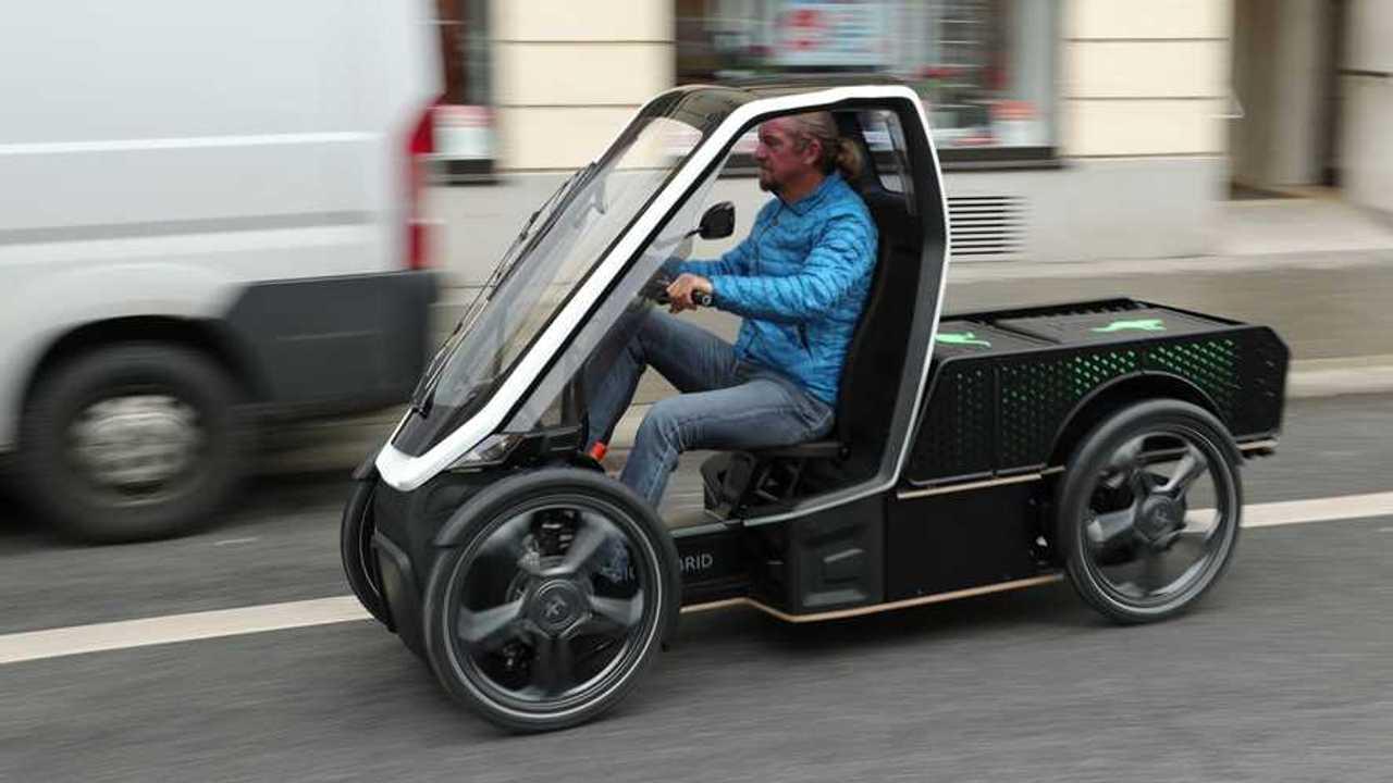 Der Bio-Hybrid Pick-up, eine Elektro-Lastenrad, ist nun bestellbar