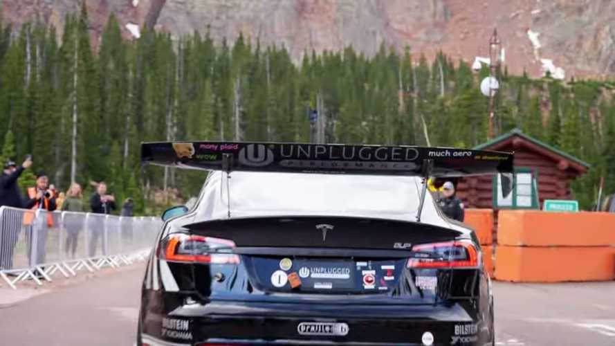 Pikes Peak: Tesla Model S Plaid Played It Safe In Rainy Session