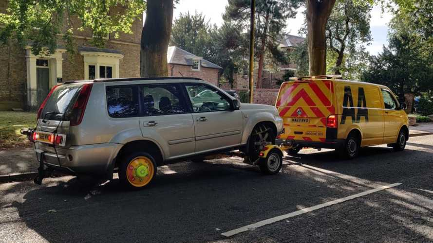 AA introduces new wheel to allow towing of electric cars and 4x4s