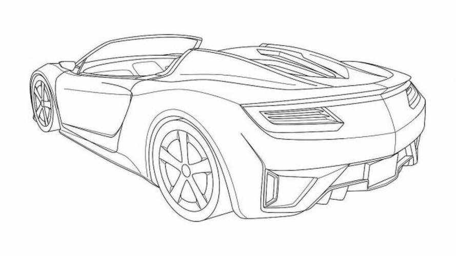 acura nsx roadster patent renderings leaked