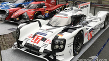 Porsche 919 Hybrid, RGR Sport by Morand Ligier JS P2, Ford GT on display in the streets of Paris