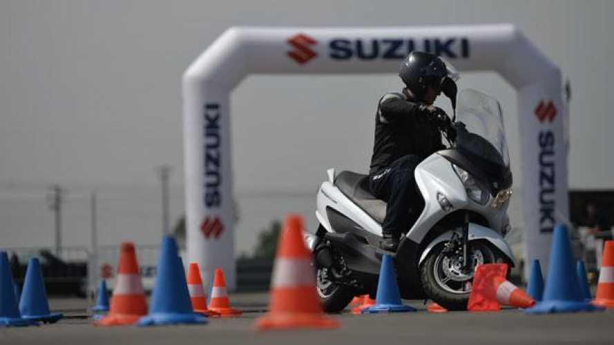 Suzuki Burgman 2014: tutta la gamma in pista!