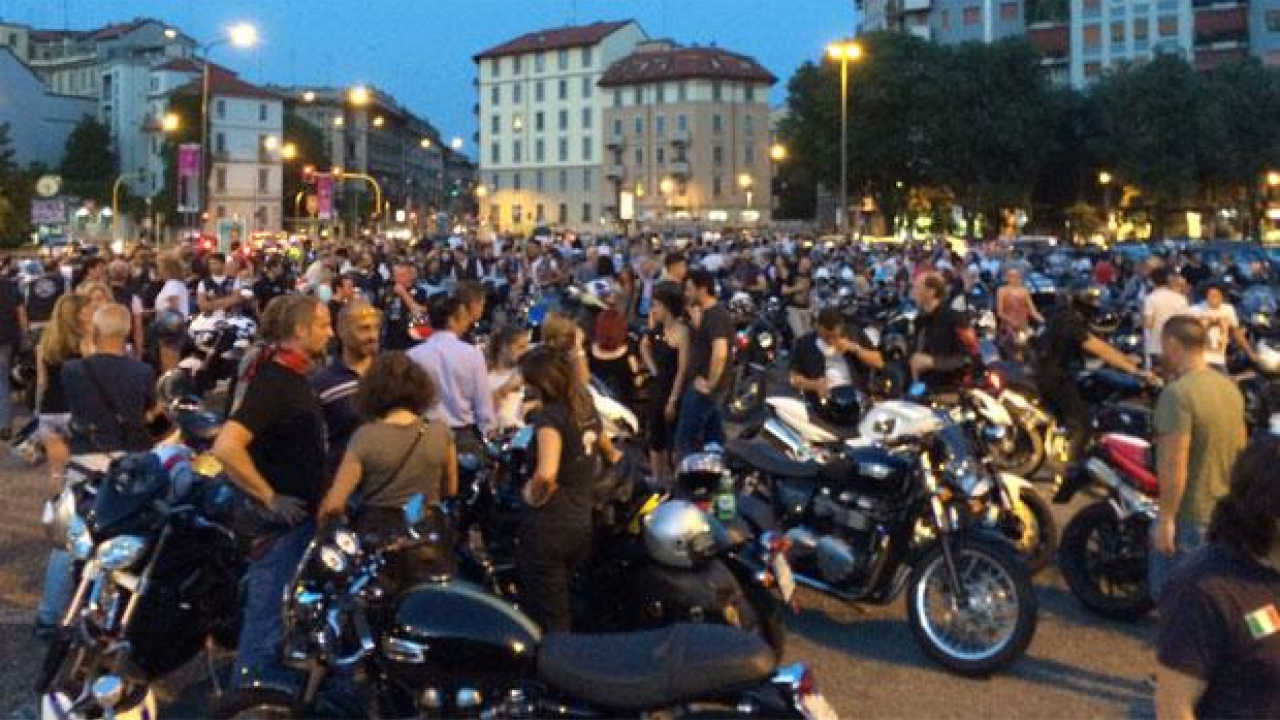 Triumph Milano City Tour by Night 2014