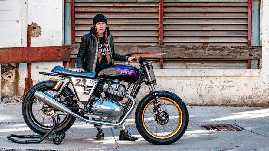 Andrea Lothrop's Build Train Race Royal Enfield INT 650