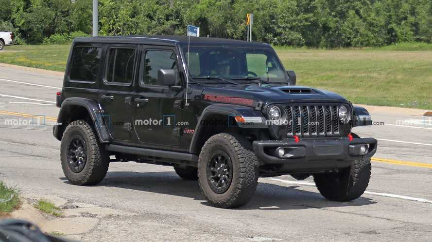 Jeep Wrangler Rubicon 392 V8 Spied In Production Spec On The Road