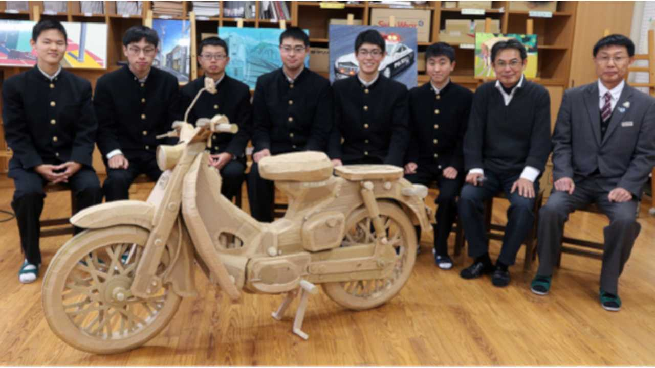 Honda Super Cub 3D Cardboard Sculpture