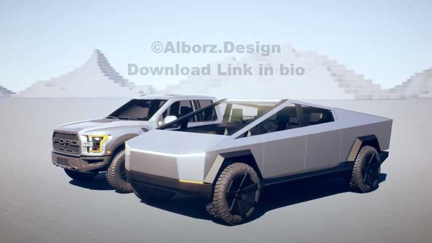 Tesla Cybertruck Shows Up Next To Ford F-150 Raptor Pickup Truck