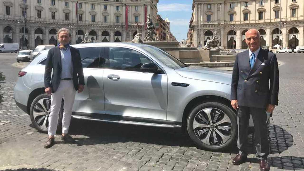 Angelo Sticchi Damiani e la Mercedes EQC
