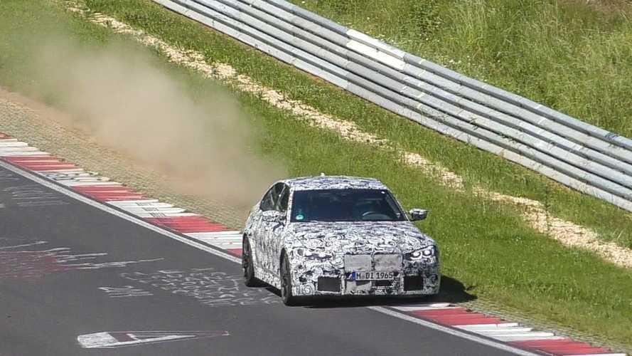 A vadonatúj BMW M3 és M4 is megcsúsztatta a hátsó a részét a Nürburgringen (videó)