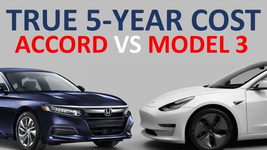 Tesla Model 3 Vs Honda Accord Hybrid: 5-Year Cost Of Ownership Analyzed