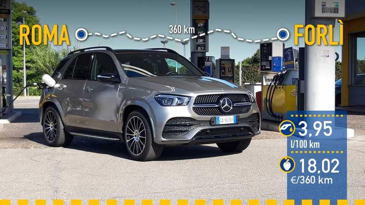 Mercedes-Benz GLE 350 de, prueba de consumo