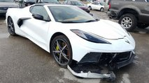 Eladó összetört Corvette C8